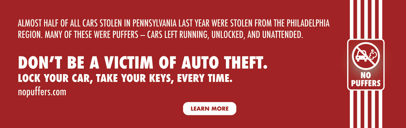 Don't be a victim of auto theft. Lock your car, take your keys, every time.